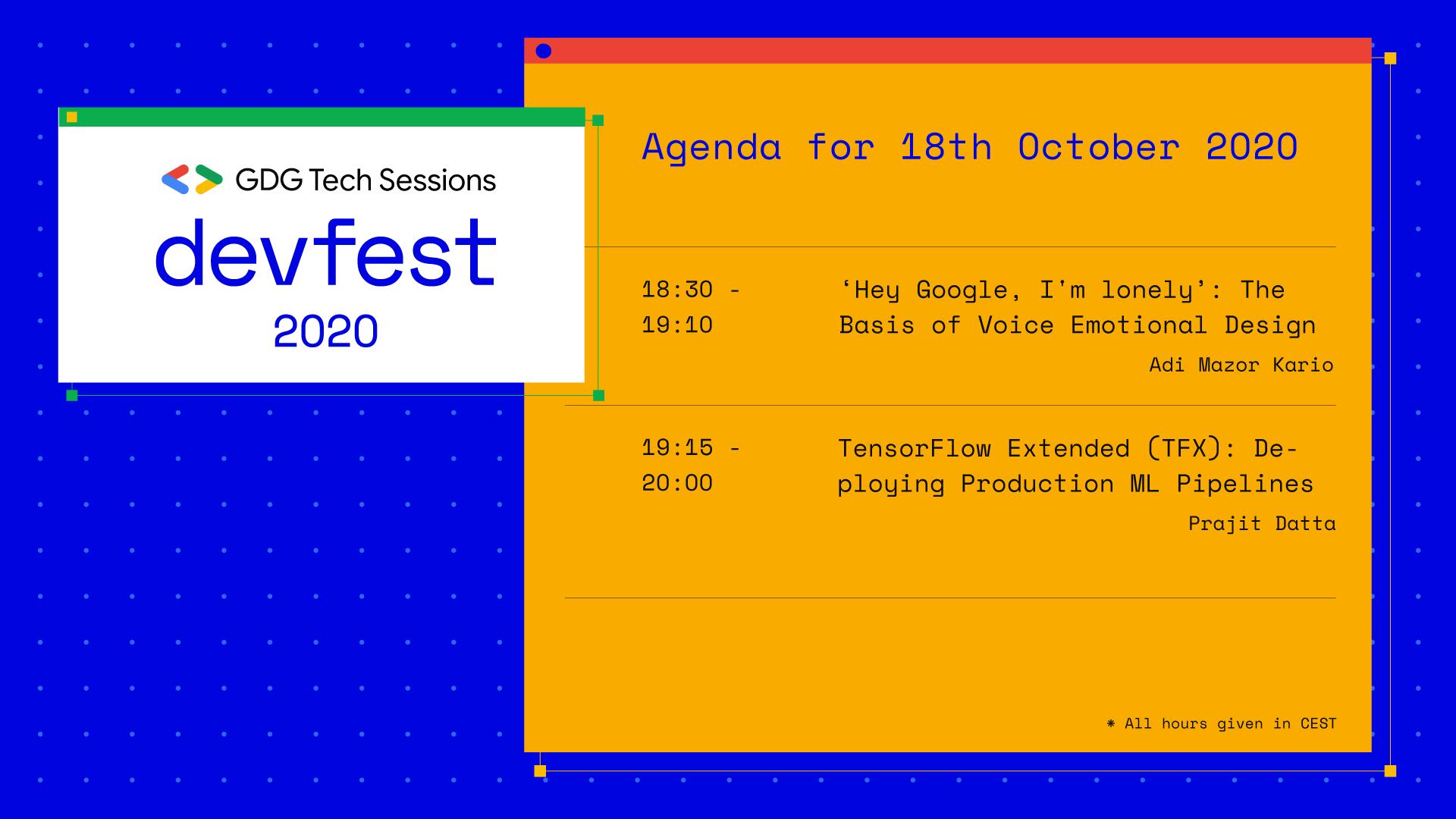DevFest Agenda